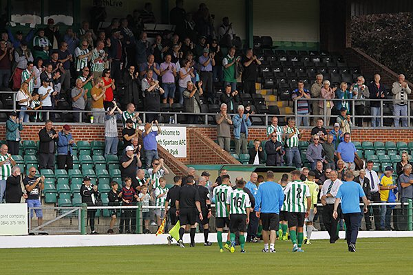 The last time we met @GuiseleyAFC, we were 17th in the table.  Now, we're 8th.   Our management and players deserve your support 🙌🏻   See you this afternoon!   #HowayBlyth #AlunsGreenAndWhiteArmy #PlayOffPush