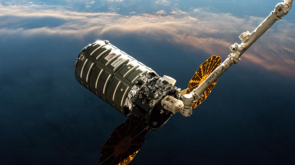 Next up on NASA TV: Live coverage of the @NorthropGrumman #Cygnus 🛰️ arrival at @Space_Station  returns at 7am ET. Ground controllers will remotely install the spacecraft to the station's Unity module, where it will stay until the end of July. Watch: https://go.nasa.gov/2GoHc8Y
