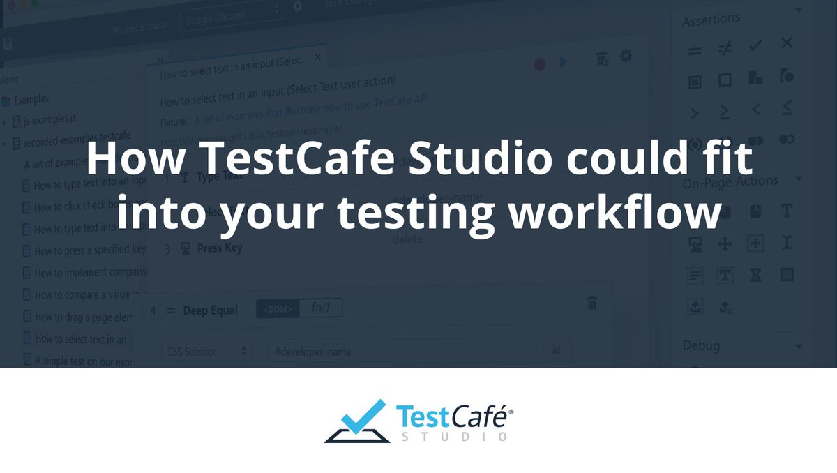 TestCafe Studio (@TestCafeStudio) | Twitter