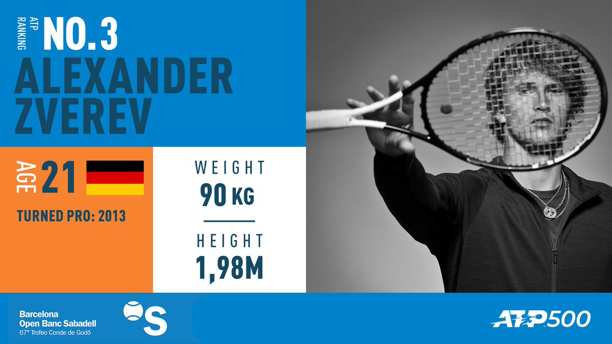 ⚠️ CONFIRMED!  The world No.3️⃣ will play in #Barcelona!   Welcome, Alexander Zverev!!!!!!