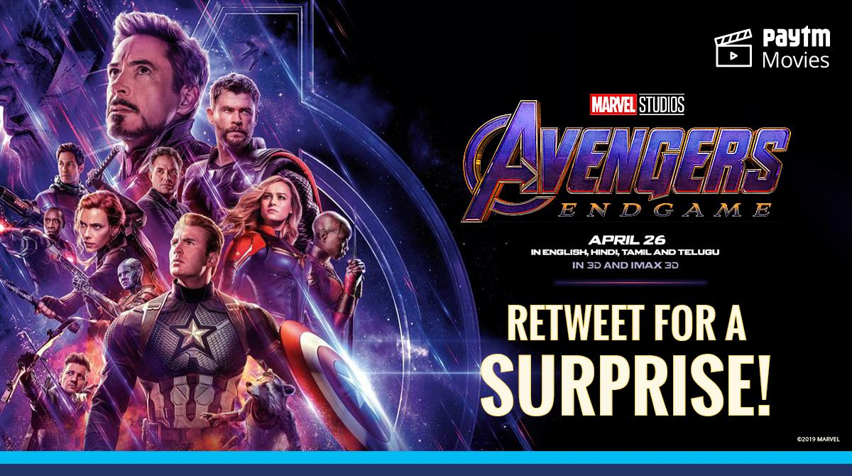 Get ready for #AvengersEndgame  RT 🔁 or LIKE ❤️ for a Paytm Surprise! https://t.co/qnsM2dcdm2