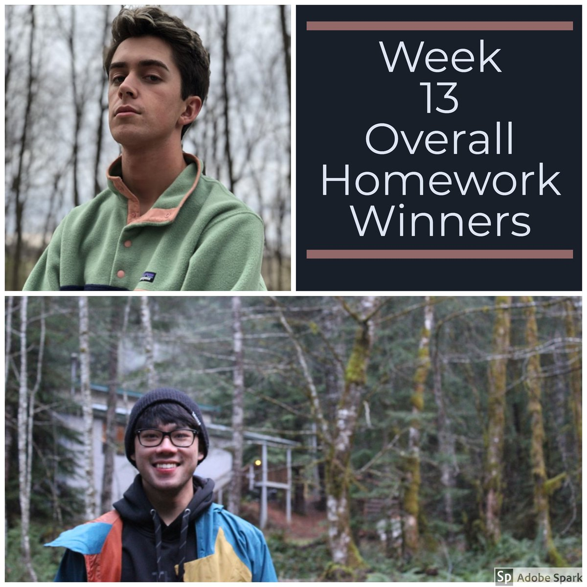 Congratulations Drew and Madi! Your peers voted your photos at the top for week 13. #mhsphotography #photography #unedited #homeworkwinners #highschoolphotographer pic.twitter.com/fZ3zfF9Dso