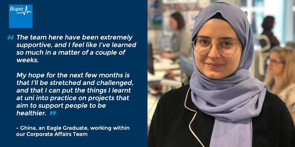 Good luck with your placement at @Bupa, Ghina!