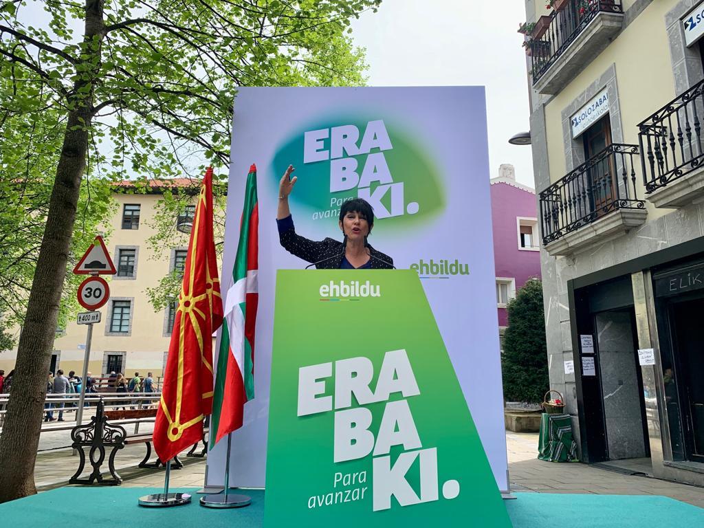 🔴@MaddalenIriarte #Lekeition:  «Tresna politikoak behar ditugu eskubide sozial aurrerakoiak eta justizia sozialean oinarritutako jendartea eraikitzeko. Konformatzea ez da aukera bat. Herritarren gehiengoaren nahiei ere erantzunez, aurrera egin behar dugu».   👉 #28A #Erabaki
