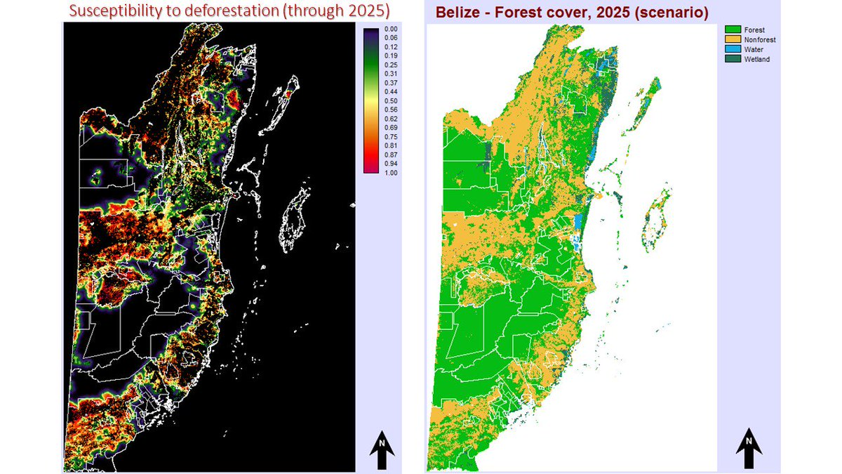 test Twitter Media - Under the 2012-2015 @CDKNetwork-funded #CaribSave project implemented by @UBERIBZ and @CATHALAC, deforestation across #Belize was modeled, and one hotspot (high likelihood of being lost) is the NW forests @WorldLandTrust is trying to save. https://t.co/ACdBenafq4. https://t.co/rgLPL4Bdt2