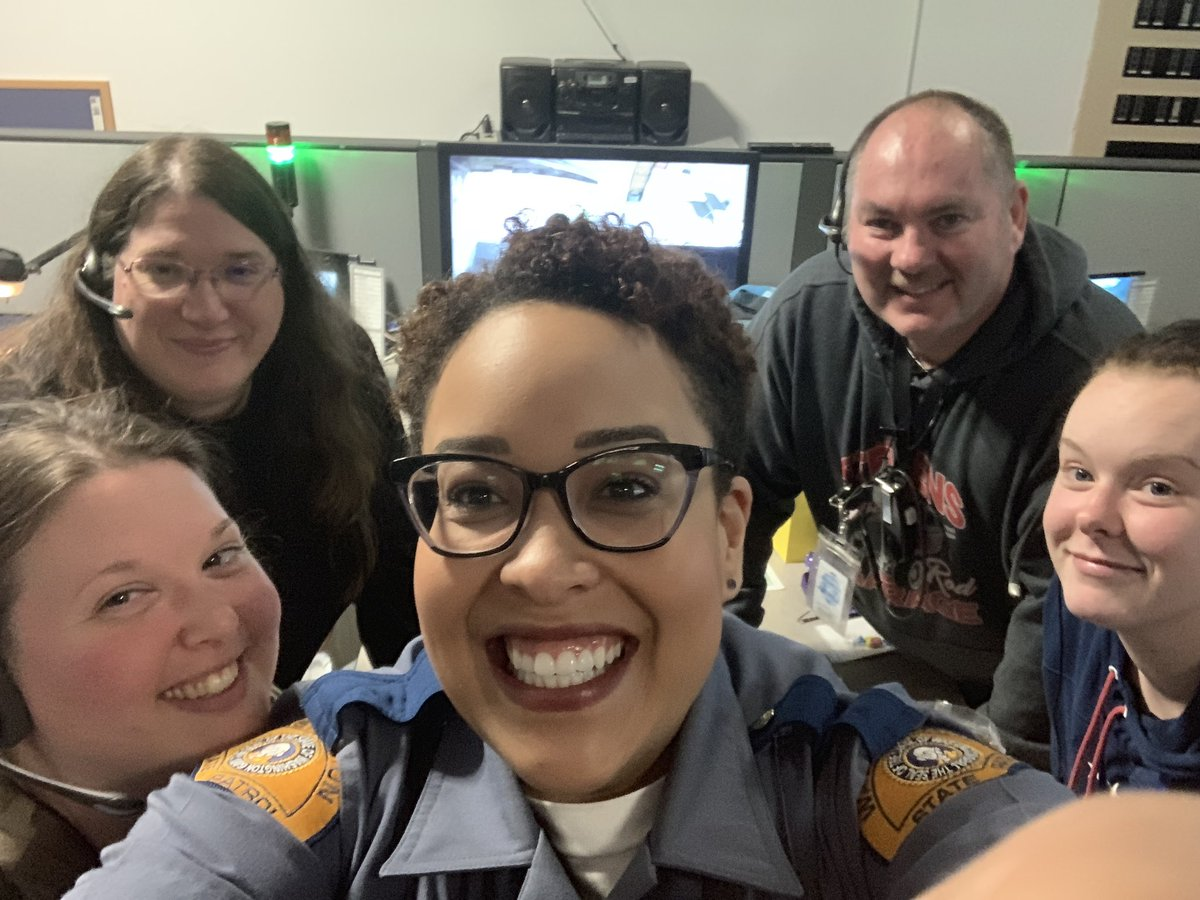 Over 50 years of dispatching experience in one room together.   That's over 240k 911 calls taken!!! We will never be able to thank you enough for your service to our community!   Fun fact: I started with #WSP as a dispatcher.💙💛 #VoiceOf911 #NPSTW #NationalTelecommunicatorsWeek