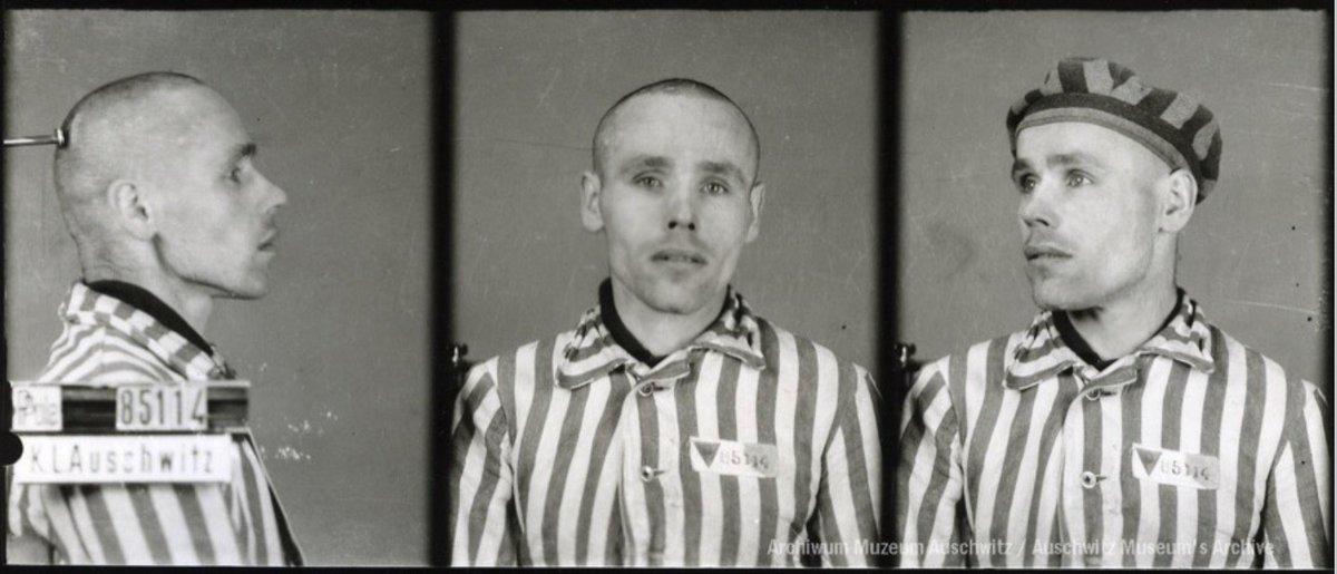 19 kwietnia 1944   Więzień Polak Michał Liszka (nr 85114, w obozie od 30 grudnia 1942 r.) został ciężko pobity w #Auschwitz przez SS-Sturmmanna Stefana Baretzkiego. Zmarł w wyniku odbicia nerek.   Powodem pobicia był zły ukłon.