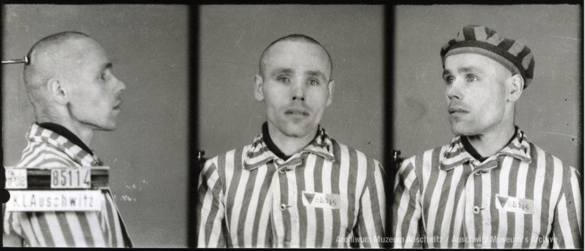 19 April 1944   Polish prisoner Michał Liszka (camp no. 85114, in #Auschwitz from 30 December 1942) was beaten by SS-Sturmmann Stefan Baretzki and died from a kidney injury. The reason of the beating was a poor greeting.
