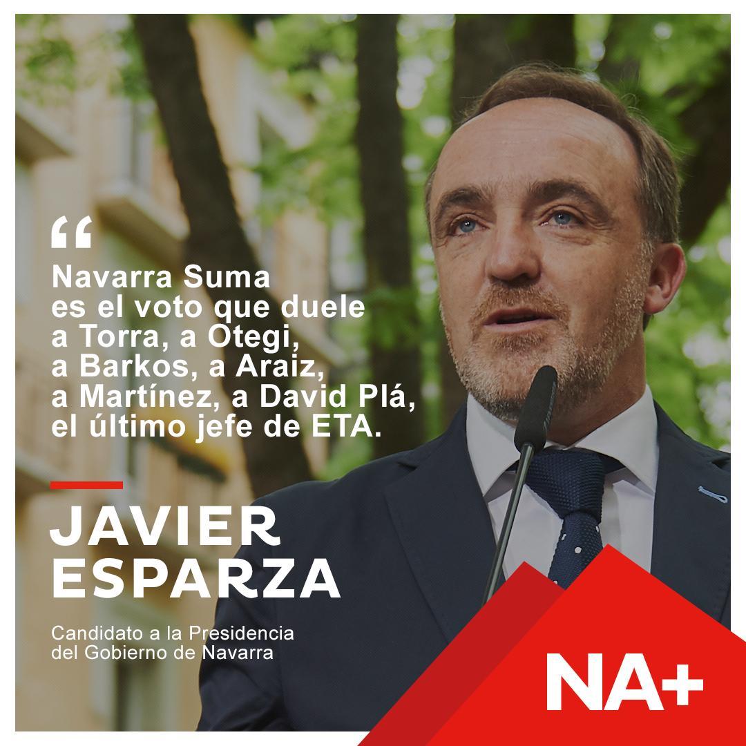 Buenas noches y recordad, Navarra Suma quiere aglutinar el voto de:  ✅ Los que creen que España tiene que seguir unida. ✅ Que quieren que España sea un espacio común de oportunidades, de desarrollo, de igualdad para los ciudadanos, de futuro y de prosperidad.  #NavarraSuma