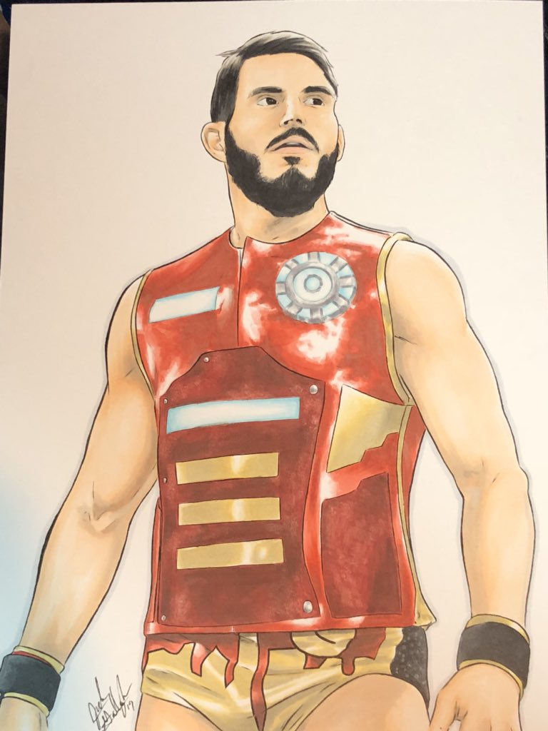 To commemorate my first Wrestlemania - I had one of my favorite artists Jude Gallagher do @JohnnyGargano piece based on @kimberlasskick 's amazing photo. Hands down my favourite match all Wrestlemania weekend. <br>http://pic.twitter.com/EHYkfdqOij