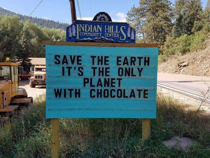 Save the earth: it&#39;s the only planet with chocolate! #savetheplanet #EarthDay2019<br>http://pic.twitter.com/CKl2GnF8UJ