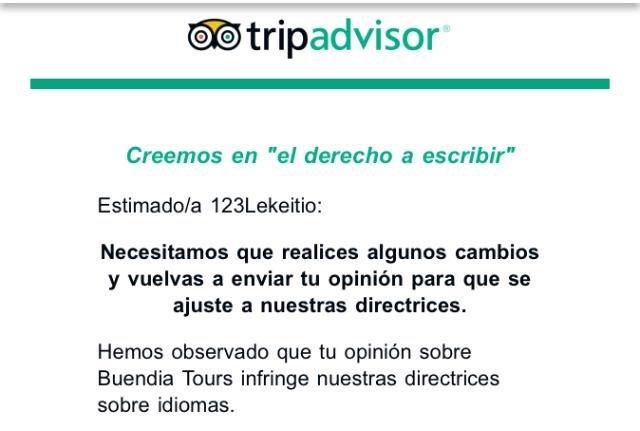 El euskera en @TripAdvisorES está prohibido.