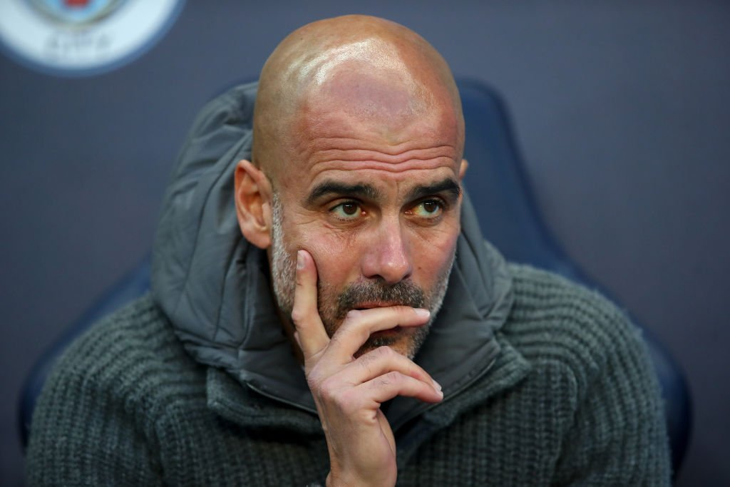 "Pep Guardiola has been asked if he's relieved talk of Manchester City winning the quadruple is over...  ""No. I would prefer to be in the semi-final of the Champions League.""  👉 https://bbc.in/2GuIdNQ   #THFC #Spurs #CCFC #MCFC #LFC #UCL #ChampionsLeague"