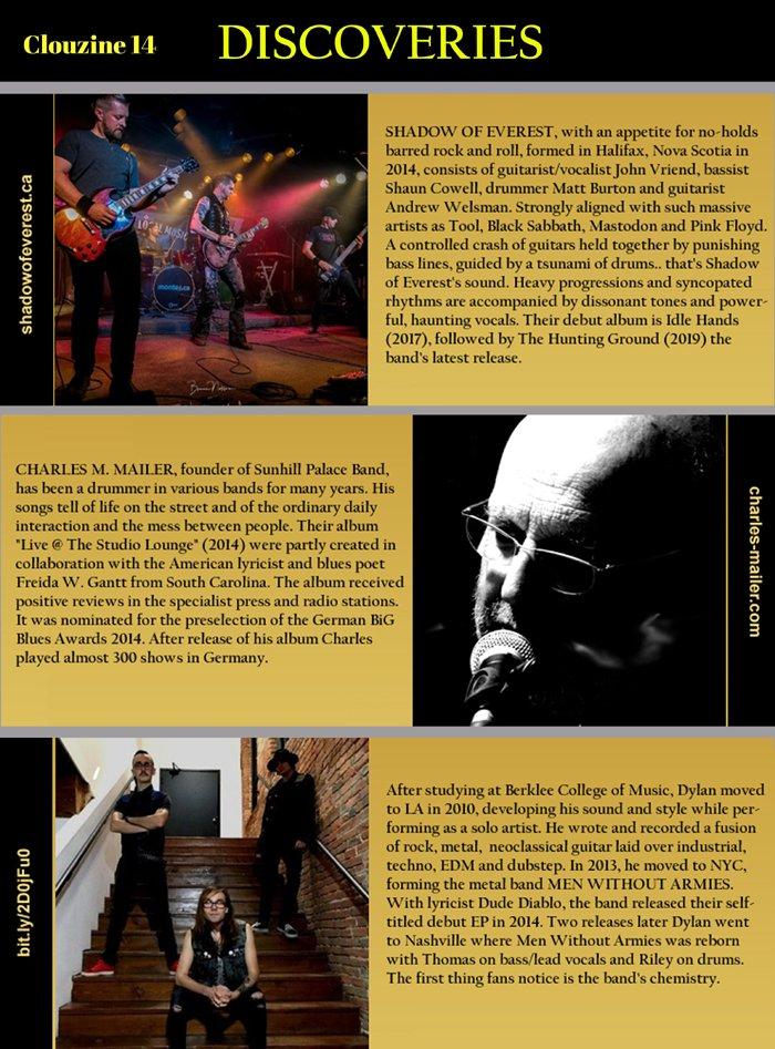 #NewMusicFriday @clouzine #No14 #Discoveries @MenWithoutArmys #CharlesMMailer @ShadowofEverest