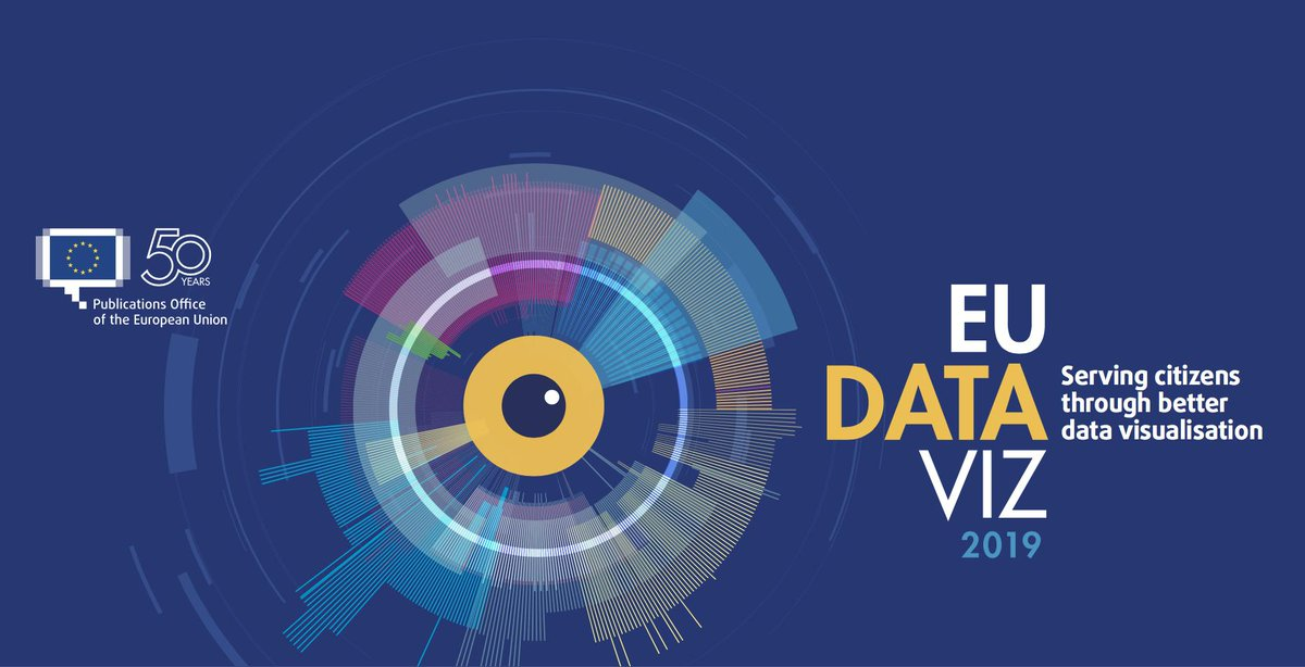 Have you heard the call to #DataViz enthusiasts?  You can propose your contribution to our #EUDataViz 2019 conference before 16 June 2019!  Learn more →  https:// europa.eu/!Xh36fK    <br>http://pic.twitter.com/i9U0etFpFX