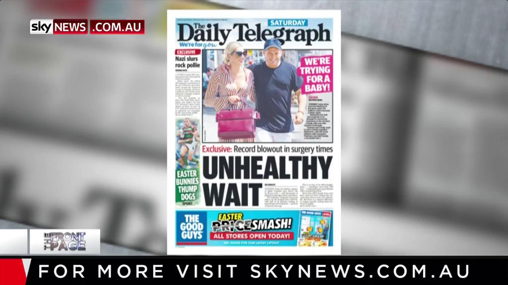 Wait times for elective surgery in public hospitals in New South Wales have blown out by 48 per cent. - @dailytelegraph @drtahmed @jeffreys_mike  MORE: https://bit.ly/2BuFqi1 #FrontPage