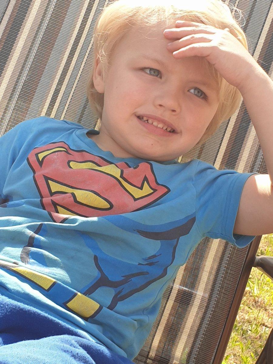 My blue eyed boy #blueeyes #blondehair #Superman #son #PERFECT