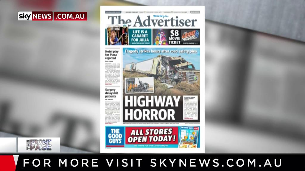 Two men have died in a fiery head-on truck crash in South Australia's mid-north, just one hour into the weekend. - @theTiser @drtahmed @jeffreys_mike  MORE: https://bit.ly/2BuFqi1 #FrontPage