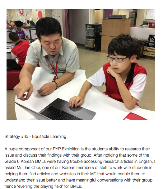 Strategy #35 from our Educators course: Equitable learning.  One great asset to help our BMLs thrive is our multilingual staff. #educatorsofbmls #BMLS #ESL #EAL #ellchat #edchatMENA #edchatEU
