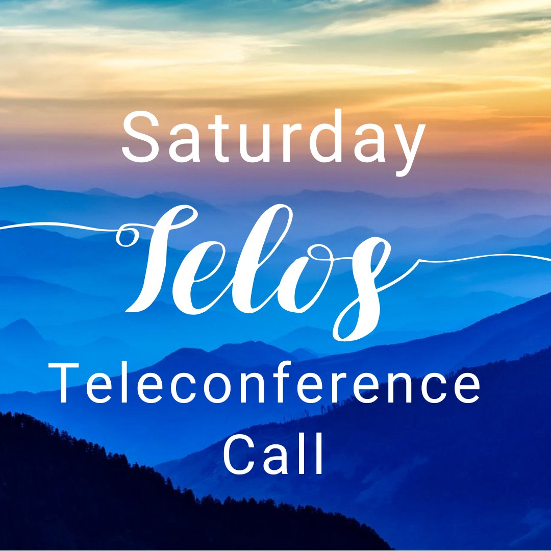 For more info on the Saturday #Telos #Teleconference call, time, and call in number, visit: https://t.co/rXbMmRmRXe https://t.co/Td8NlKy8RO