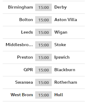 Here we go then.  Some big matches at both ends of the Championship.  All the EFL action here:  ➡ https://bbc.in/2KJcpco