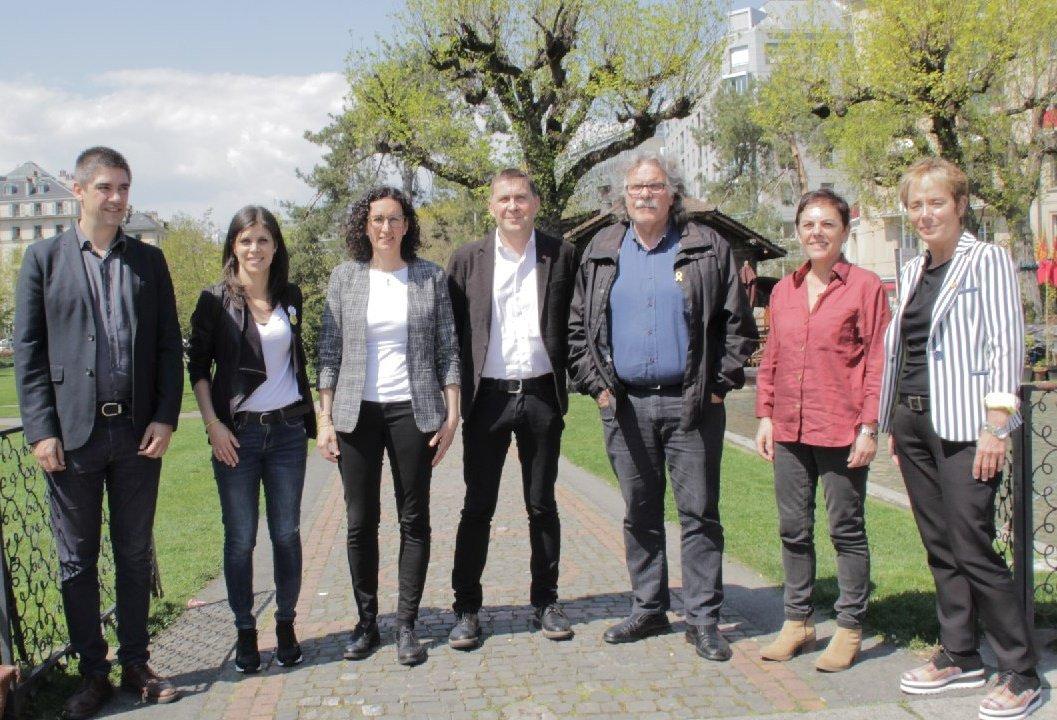 ✍ Hoy en Ginebra hemos formalizado junto a @MartaRovira el acuerdo alcanzado con @Esquerra_ERC para actuar de forma coordinada a partir del #28A en defensa de los derechos y libertades.  🗳 Autodeterminación. 🏛 Libertad de los presos políticos. 🗣 Derechos sociales. #SomosMás