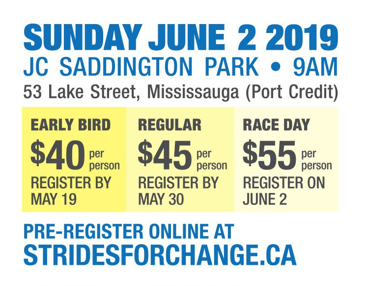 Early Bird Registration ends in a month!  Register for the 7th Annual MADD Canada PIA Law Strides for Change (GTA) Event and make a difference!  http://ow.ly/Zqlx50nrEsS  #SFCGTA2019 #makestrides #stopimpaireddriving #makeadifference
