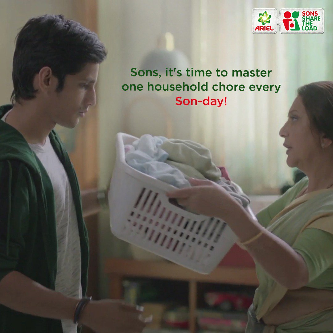 The next four Sundays are now going to be Son-days! Become an expert in all household chores with Ariel's easy tips and tricks. Participate in our SON-day challenge every week and learn to #ShareTheLoad with ease!