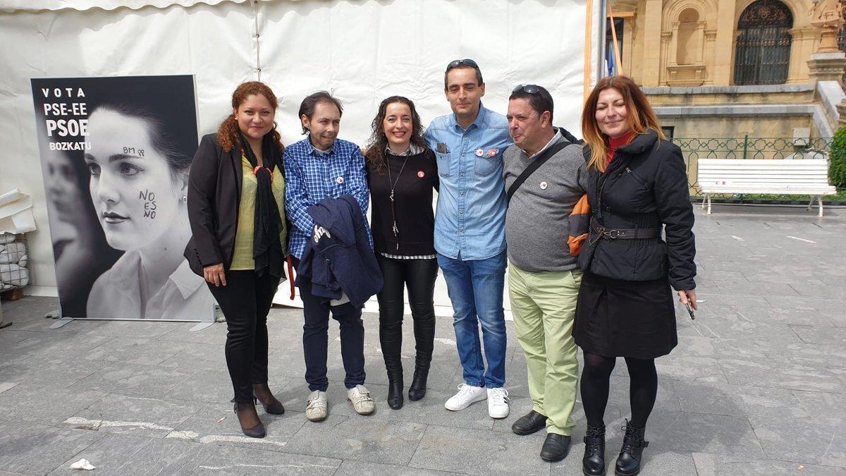 @PSEandoain apoyando a nuestro presidente @sanchezcastejon a su paso por Donostia ¡¡Presidente!! #HazQuePase #28AVOTAPSOE #EgizuPosible