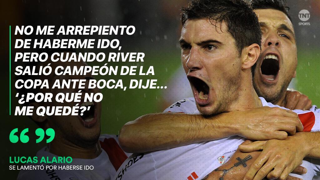 #TNTSports | Lucas Alario se lamentó por haberse ido de River y no haber jugado la final ante Boca 👇 https://t.co/kgWBL48KyT