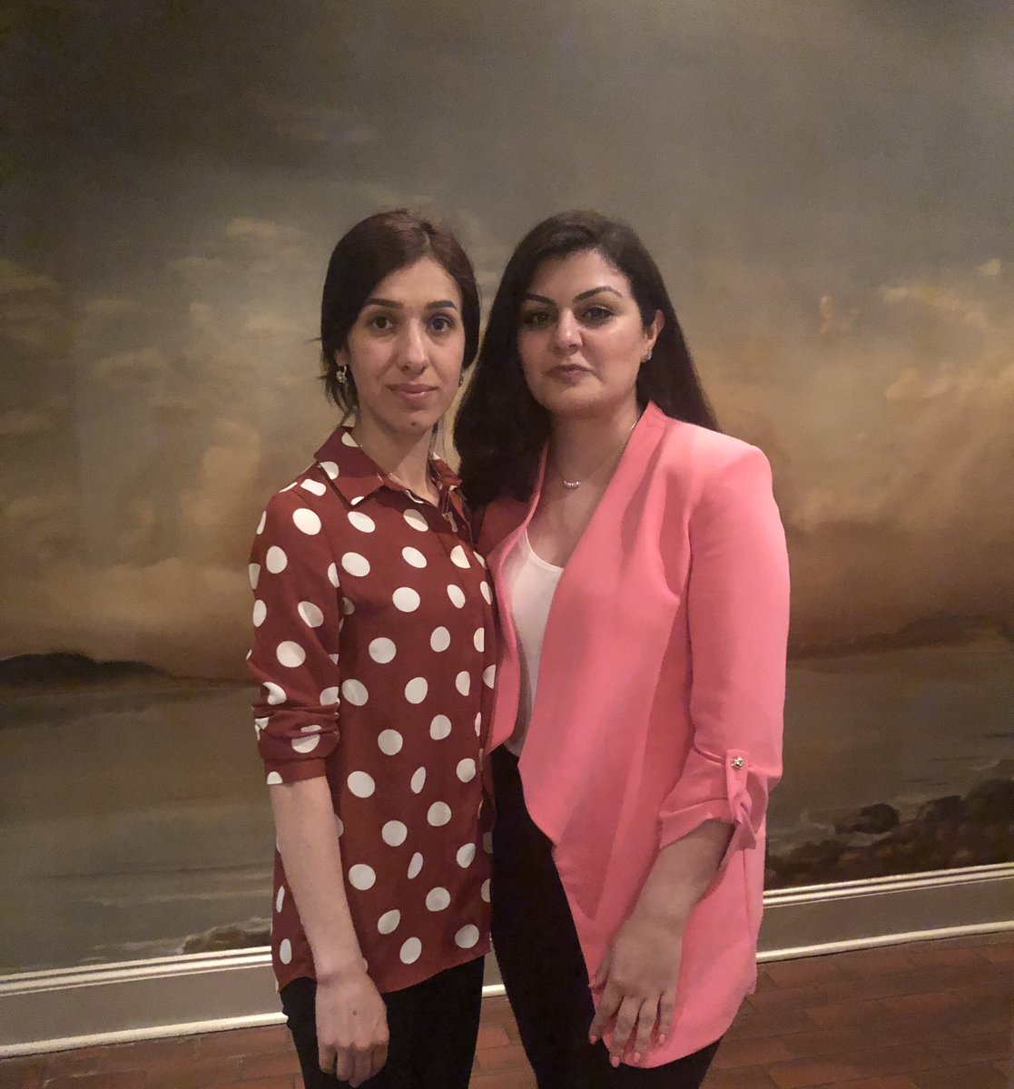 It was a great honor to meet Nadia Murad. Her courage, grace, and determination amidst the many challenges faced by the Yazidi people is inspiring. @NadiaMuradBasee