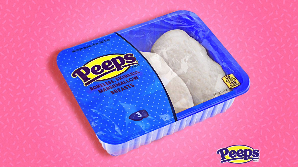 Peeps Unveils New Boneless, Skinless Marshmallow Breasts https://trib.al/RxPw6pX