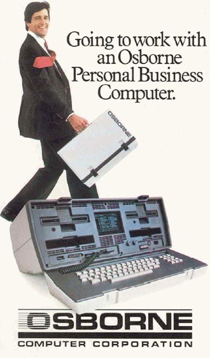 En abril de 1981 empezaba a comercializarse el ordenador personal Osborne. ¡Sólo pesaba 10 Kg.!