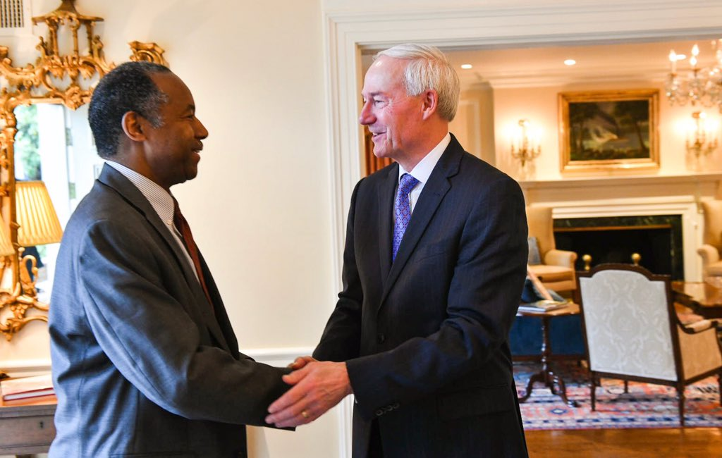 Thanks Governor @AsaHutchinson for the warm welcome to Arkansas this morning. I look forward to our continued partnership.