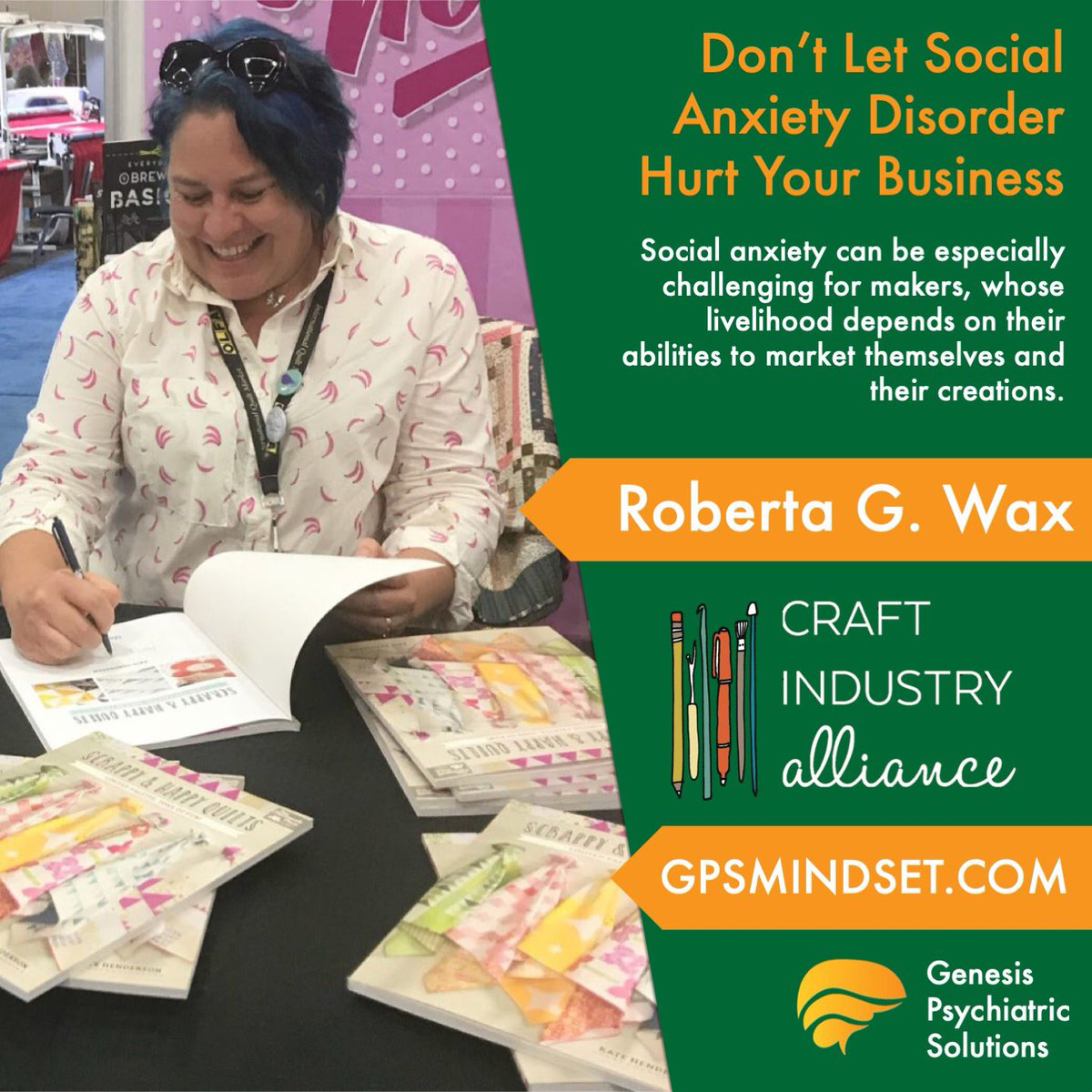 Social anxiety can be especially challenging for makers, whose livelihood depends on their abilities to market themselves and their creations.  https://craftindustryalliance.org/dont-let-social-anxiety-hurt-your-business/ …  #mindset #attitude #mentalhealth  #gpsmindset #socialanxietydisorder #socialanxiety #socialanxietyawareness