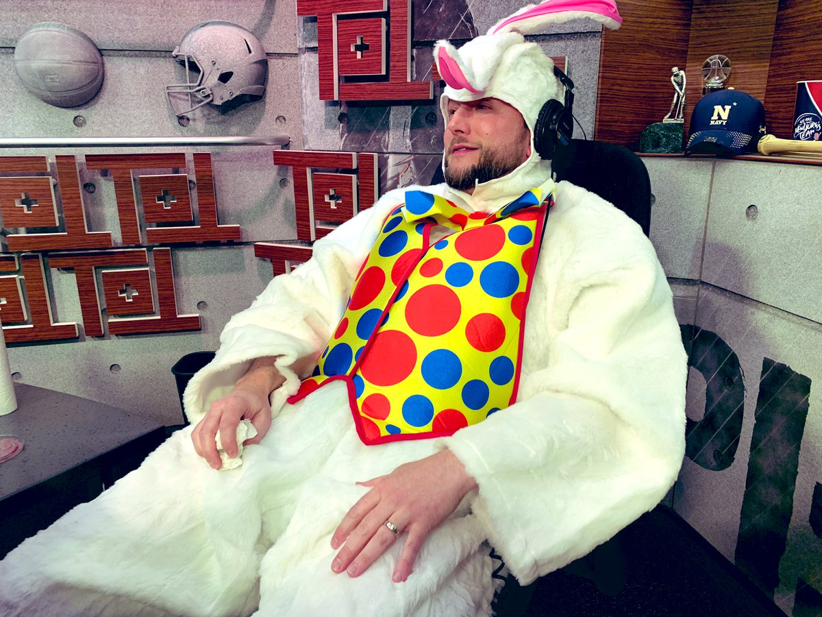 If there's a better image than @AndrewBogusch passed out in an Easter bunny costume after eating Death by Salsa, I haven't experienced it.