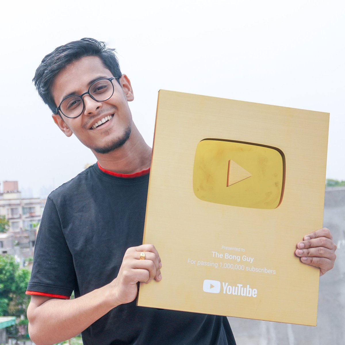 Thank You everyone.The Gold Play Button is here ❤️🙏 @YTCreatorsIndia @YouTubeIndia