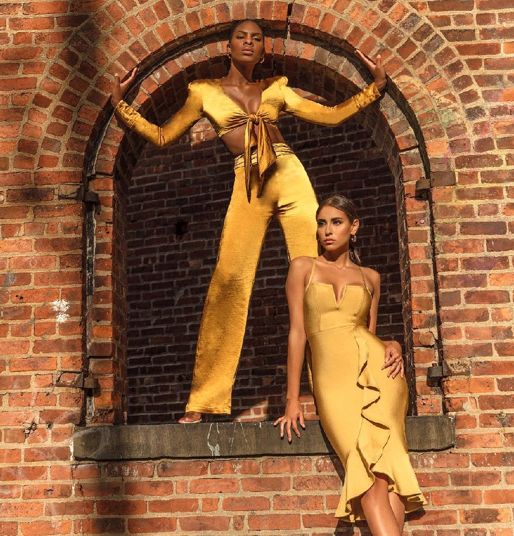 GLOW 🤩🌞 through all four seasons! 💛Our NEW Uli Crop Top and Nellie Pants set and Gloria Dress ✨ Get the look at http://www.misscircle.com  ⚡️  #bff #gold #brooklyn nyc heels #vogue time #loveyourself #nail dress #motivation girls #birthday