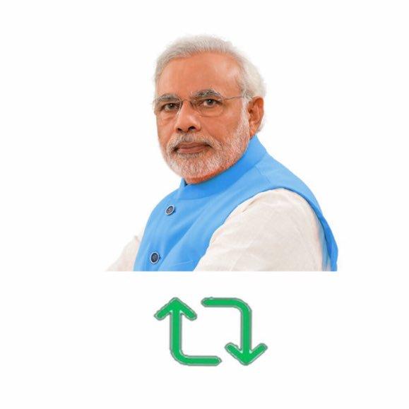 आइए एकता की शक्ति दिखाएं और रिट्वीट/Retweet करें और नरेंद्र मोदी का समर्थन करें!  #MainBhiChowkidar  #PuriGandhiFamilyChorHai  #ModiHaiToMumkinHai  #ModiOnceMore  #PappuFailedAgain  #JaiHind 🇮🇳