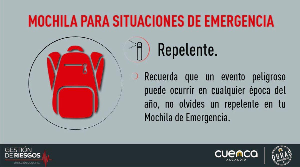 #DGRTips 👇🏻  ¿Tienes lista tu Mochila de Emergencia? 🎒  Un evento peligroso puede ocurrir en cualquier época del año, por lo tanto es recomendable incluir un repelente. 🦗  #TrabajamosEnPrevención  👍🏻