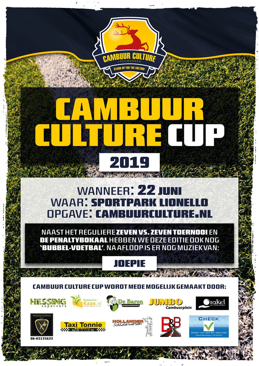 Teams kunnen zich aanmelden via http://webshop.cambuurculture.nl  #Cambuur #Culture #Cup #CCC19