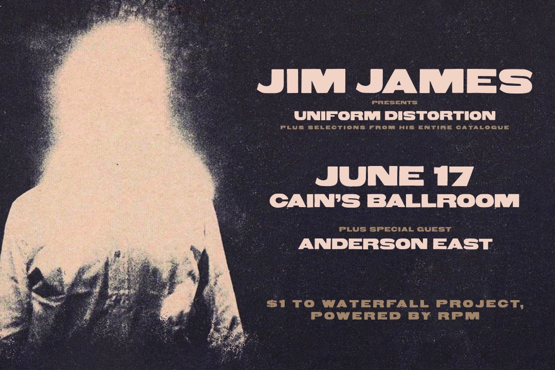 Just announced, @jimjames Uniform Distortion and Anderson East , live at @CainsBallroom on June 17th. Don't miss Jim James, front man for My Morning Jacket. Tickets on sale now. http://edgetulsa.com/concerts-and-events/jim-james-6-17/ …