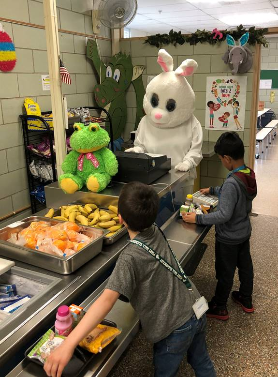 This bunny will miss you during the break! Our very own Kathy at Perry Hall Elementary.