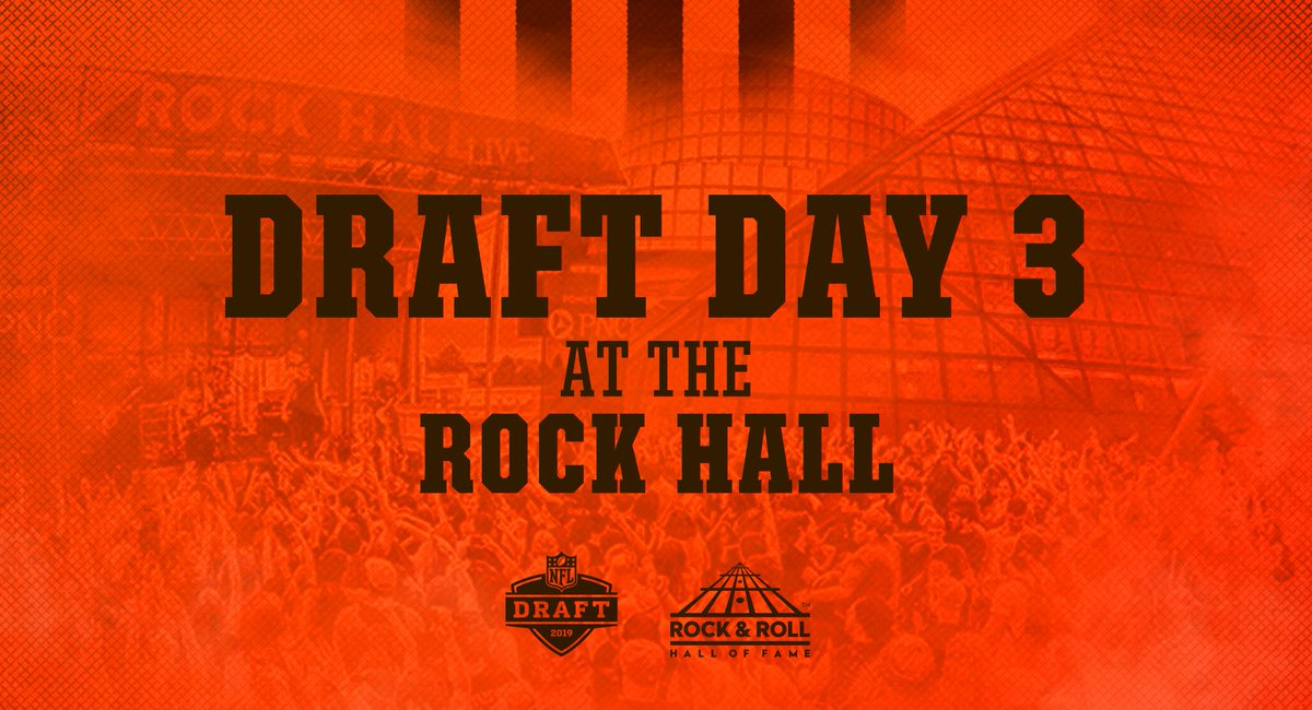 We'll be at the @rockhall next Saturday to make our Day 3 draft picks 🎸  Throw on your favorite Browns gear, join us and receive a discounted ticket!  Details » http://brow.nz/xjW65L