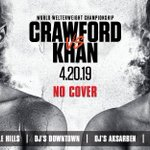 """SATURDAY NIGHT! DJ's Dugout Miracle Hills, Downtown, Aksarben, & Millard locations ONLY will be showing Omaha's own Terence """"Bud"""" Crawford vs Amir Khan Pay-Per-View fight on April 20th. NO COVER!"""