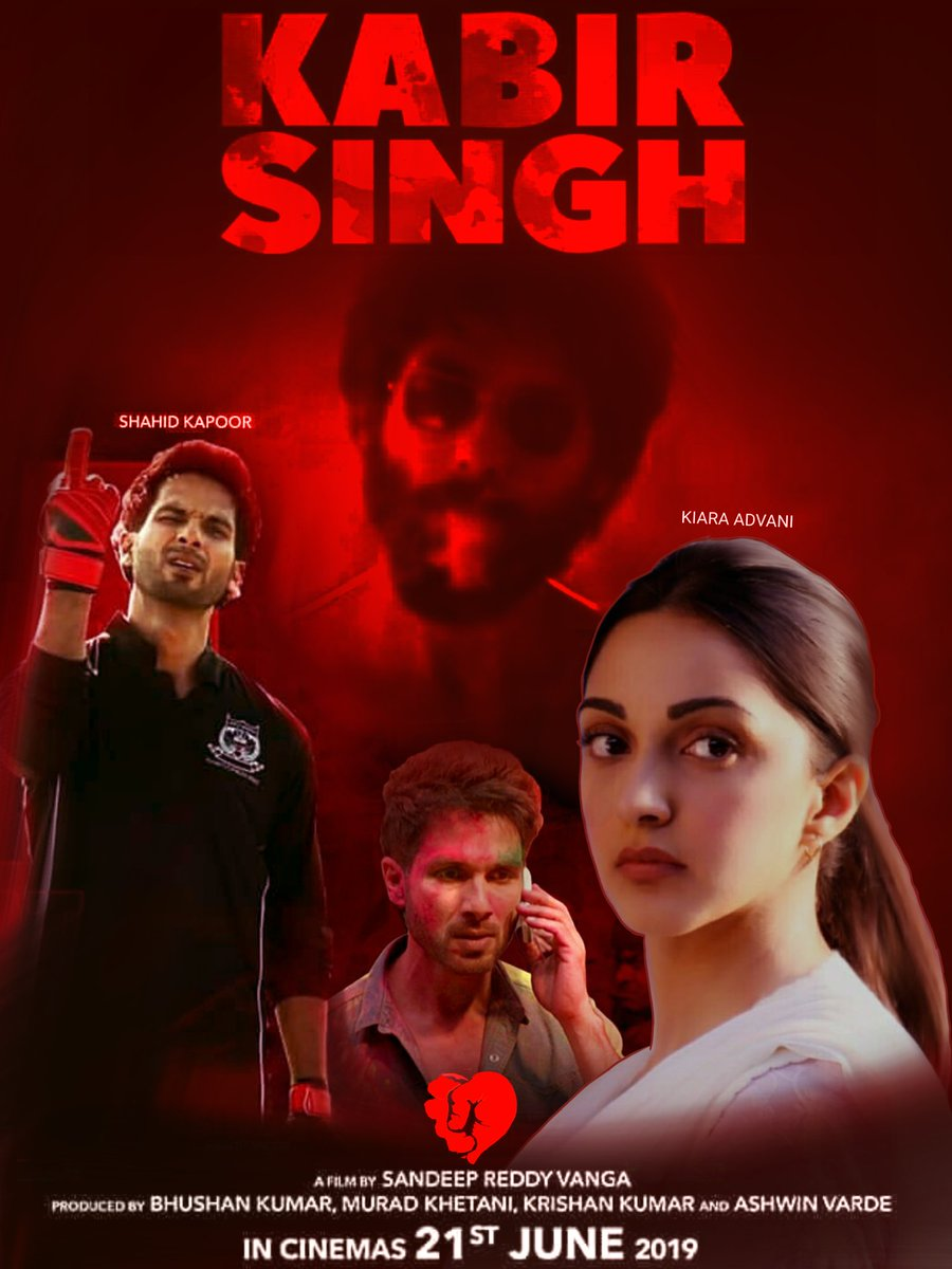 So here is My little effort for #KabirSingh #poster 🙈🙈🙈  The whole editing is done in @sketchbookapp @autodesk @shahidkapoor @Advani_Kiara @imvangasandeep @KabirSinghMovie