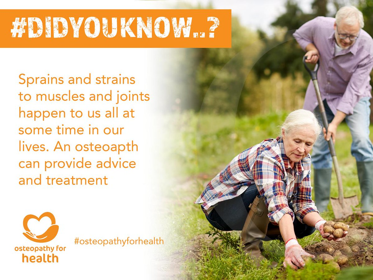 #didyouknow your osteopath can work with you to keep you enjoying your daily activities  Find out more about healthy ageing http://ow.ly/UOBU50pxfI0 #osteopathyforhealth #healthyageing  #osteopathy #osteopathic #osteo #keepingactive