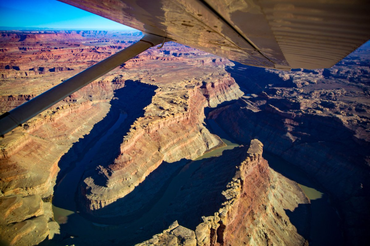 Flying high above Canyonlands with @moabadventure. Views of Canyonlands from our 6 seater plane! From high above you can truly see how this landscape has been created by nature's winds and rains. #travel #exploreutah #outdoors