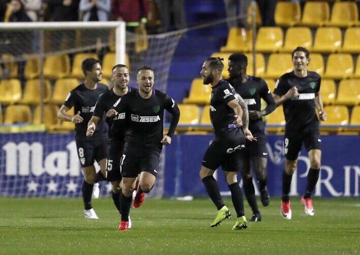 ⏱¡QUÉ GOLEADA!  ⚽️Ontiveros (x2), Adrián y Santos han firmado el PÓKER DE GOLES de los andaluces.  Alcorcón 1-4 Málaga #Liga123