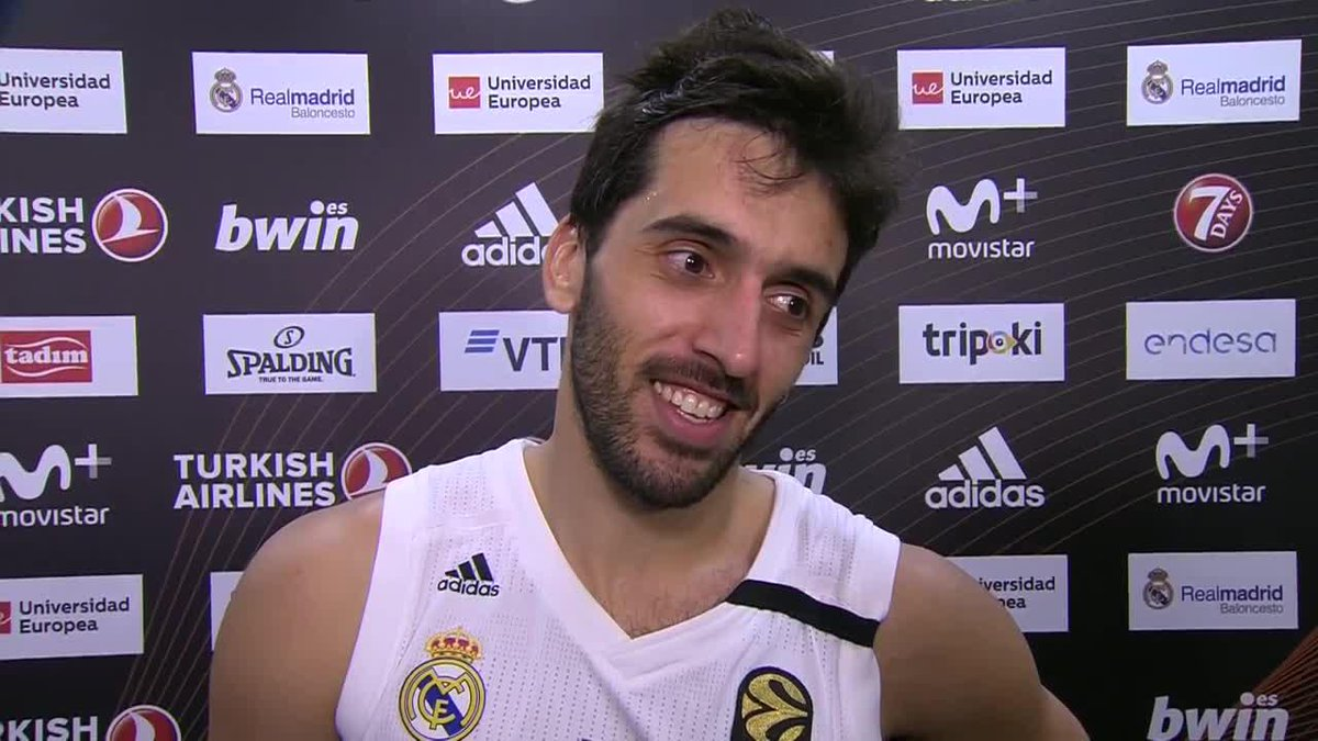 The 'player of the game' AND a first interview in English.  Quite a night for @facucampazzo   #GameON